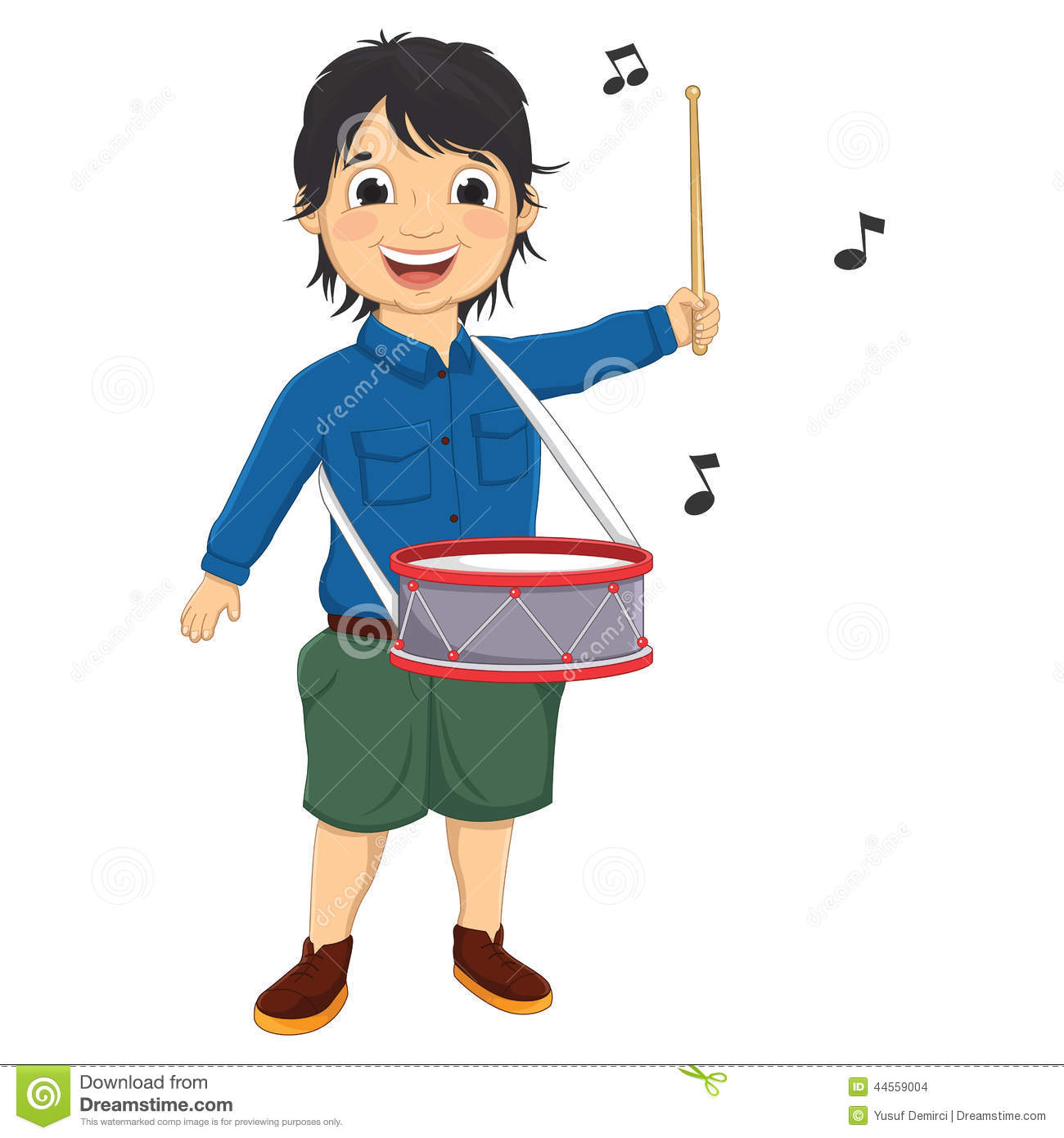 Kid Playing Drums Clipart A Little Boy Playing Drum