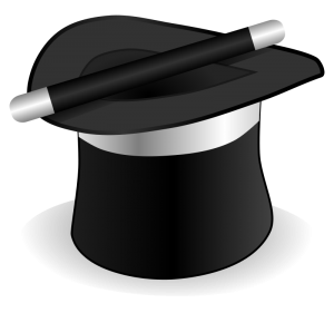 Magic Hat And Wand Clipart