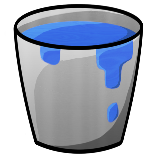 Minecraft Bucket With Water Icon Png Clipart Image   Iconbug Com