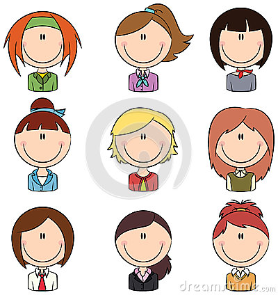 Office Worker Female Avatar Stock Photos Image 34021553 - Clipart Kid