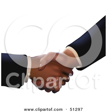 Royalty Free  Rf  Clipart Illustration Of People Shaking Hands