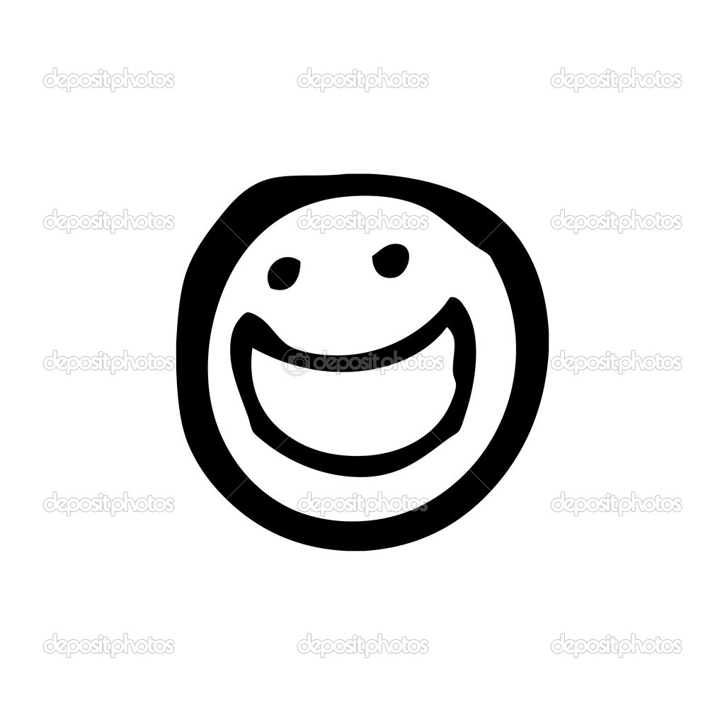 Line Drawing Smiley Face : Thumbs up smiley face with black and white clipart