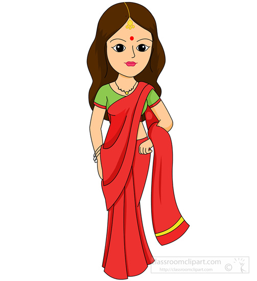 Family In India Clipart
