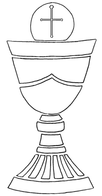 Chalice And Host Colouring Pages