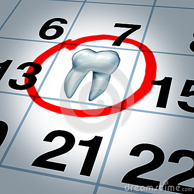 Dentist Appointment And Dental Check Up Health Care Concept As A Month