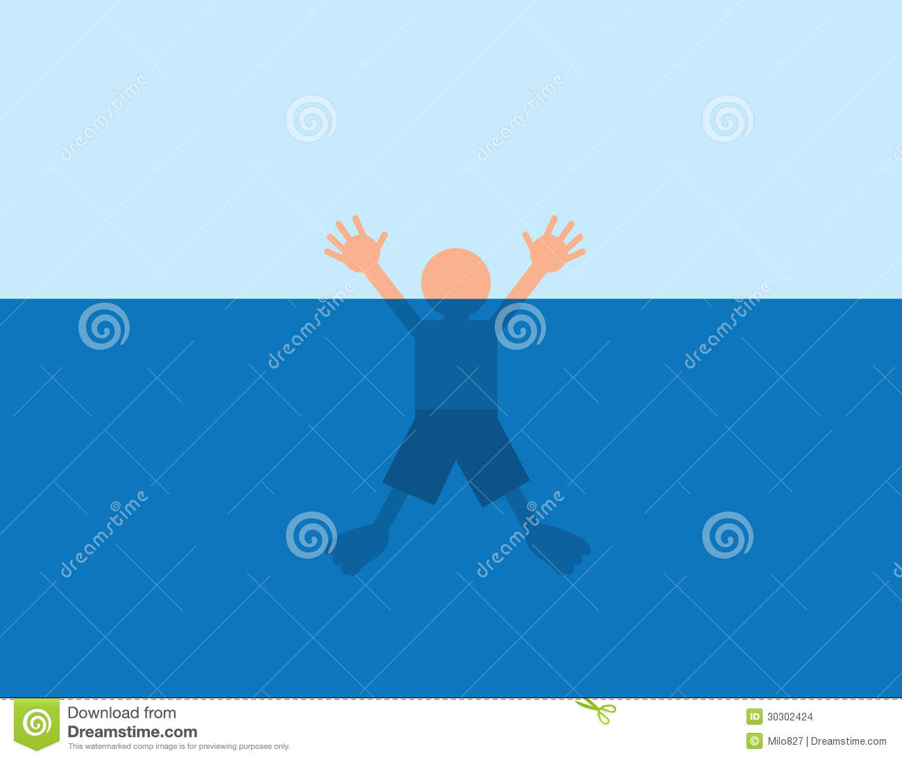 Drowning Water Stock Images   Image  30302424