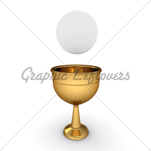 Illustration Of A Chalice With A Host Hostia