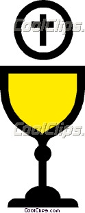 Symbol Of A Chalice With Host Symbol Of A Chalice With Host