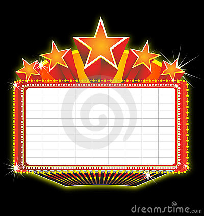 Theater Marquee Sign Royalty Free Stock Image   Image  11877416