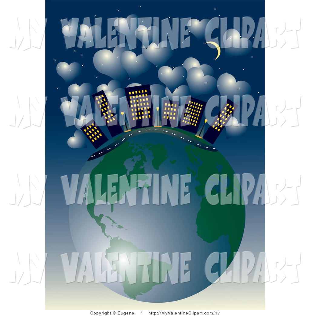 Valentine S Clipart Of A City Skyscrapers And A Road On Top Of Planet