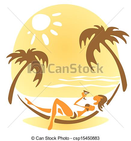 Woman In Hammock Clipart Girl In A Hammock