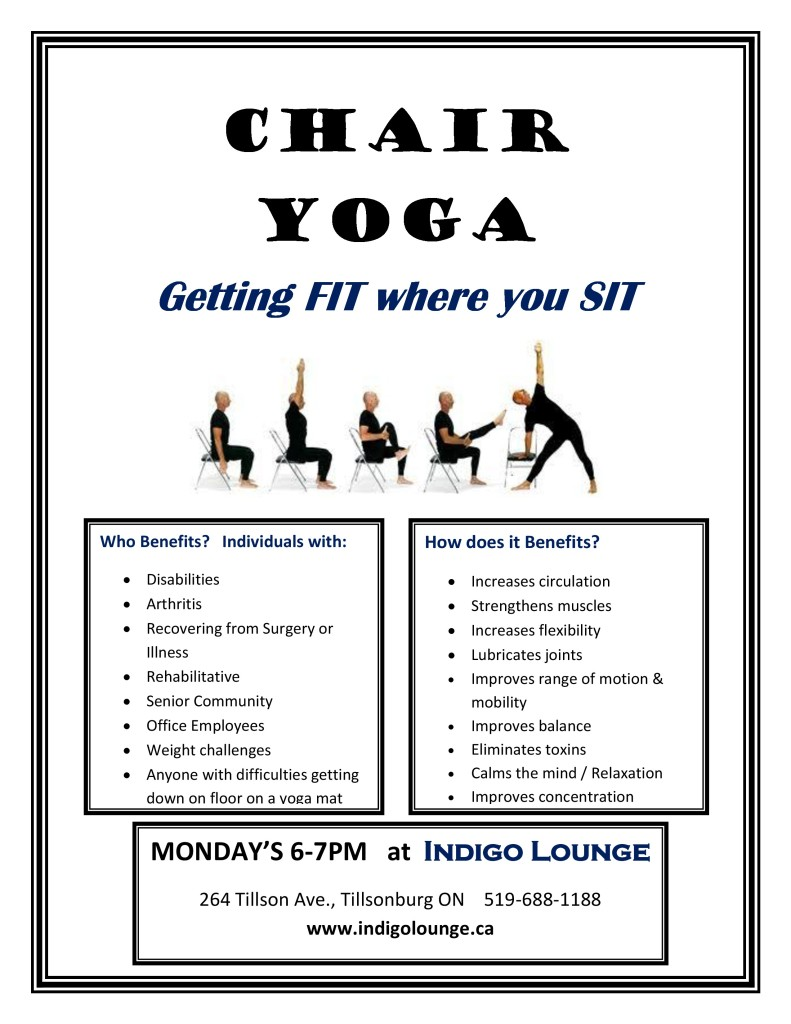 Chair Yoga Clip Art