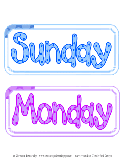 Days Of The Week Clipart Course  Add Some Clip Art