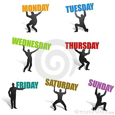 Days Of The Week Silhouettes   Clipart Panda   Free Clipart Images