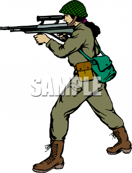 Female Soldier Clipart - Clipart Kid