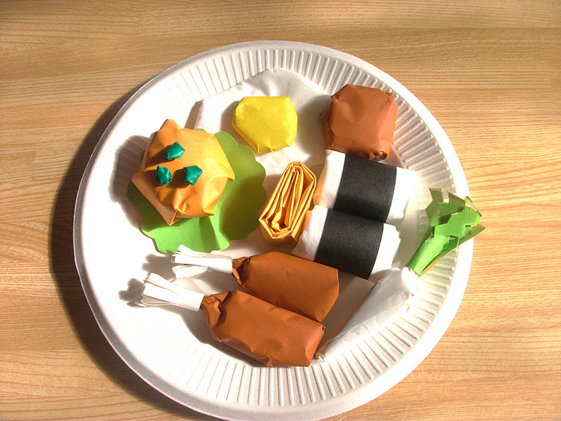 Еду для детей из бумаги