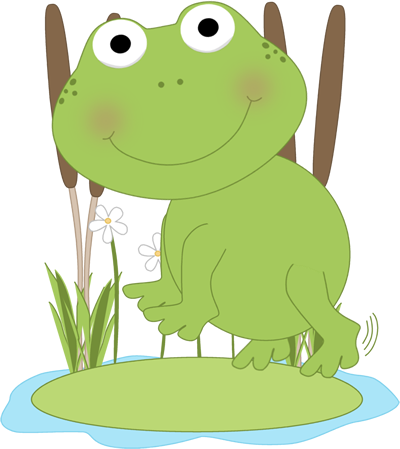 Frog On Lily Pad Clipart - Clipart Suggest