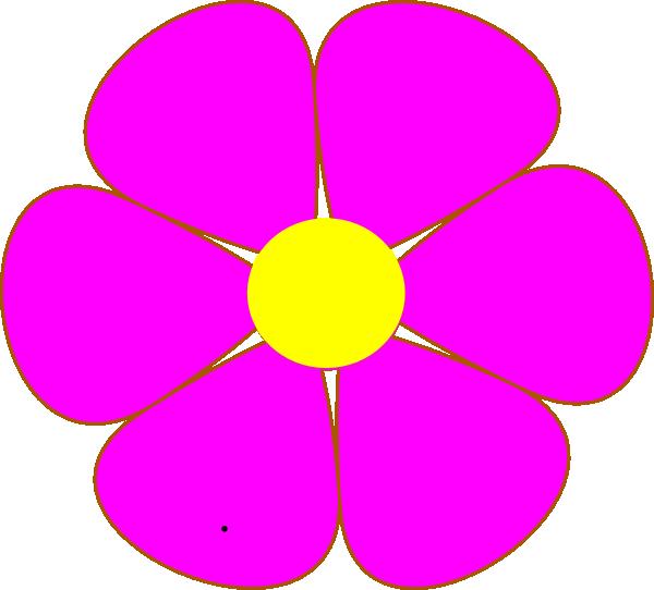 Pink Flower Clip Art At Clker Com Vector Clip Art Online Royalty
