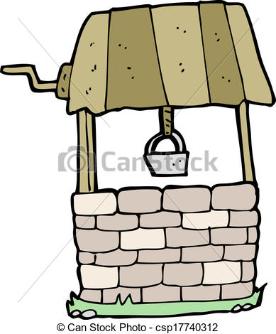 Vector Clip Art Of Cartoon Wishing Well Csp17740312   Search Clipart