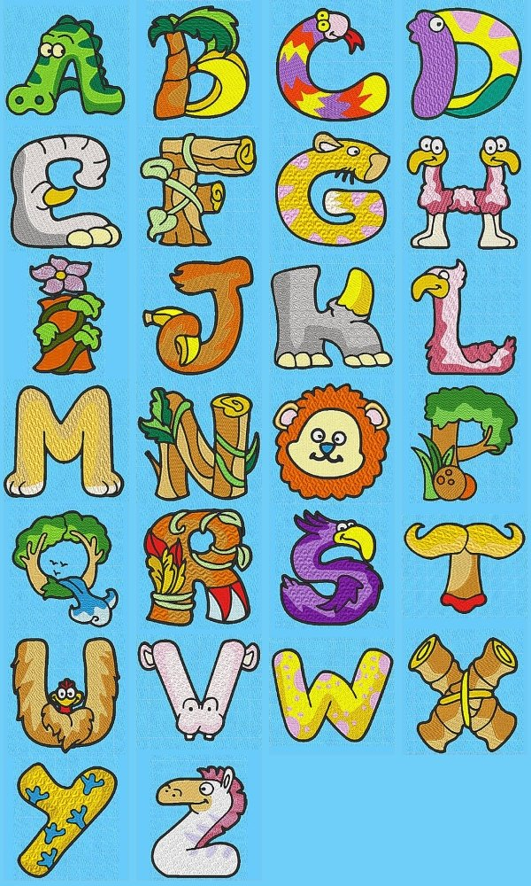 Alphabet Animal Letters Font Clipart   Free Clipart
