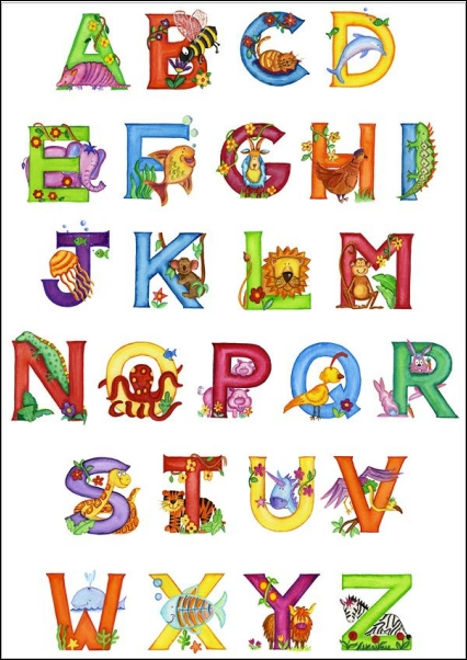 Alphabet Poster Animal Alphabets Baby Animals Kids Alphabet