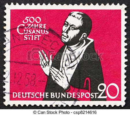 Germany   Circa 1958  A Stamp Printed In The Germany Shows Nicolaus