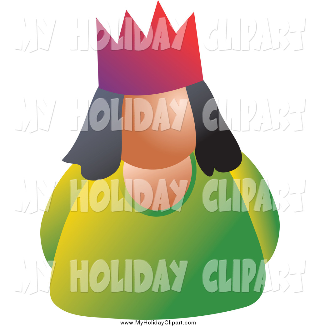 Larger Preview  Clip Art Of A Woman Wearing A Crown By Prawny
