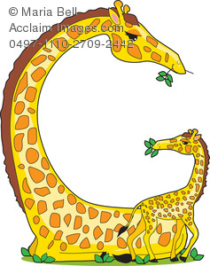 Letters Of The Alphabet Giraffe Clipart Image   Animal Alphabet
