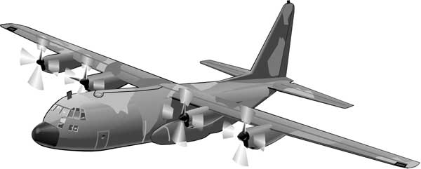 Military Airplanes Clipart Clipart   C130a   Classroom