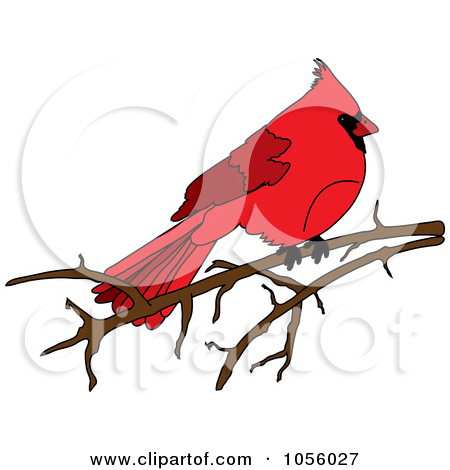 Royalty Free Vector Clip Art Illustration Of A Red Cardinal