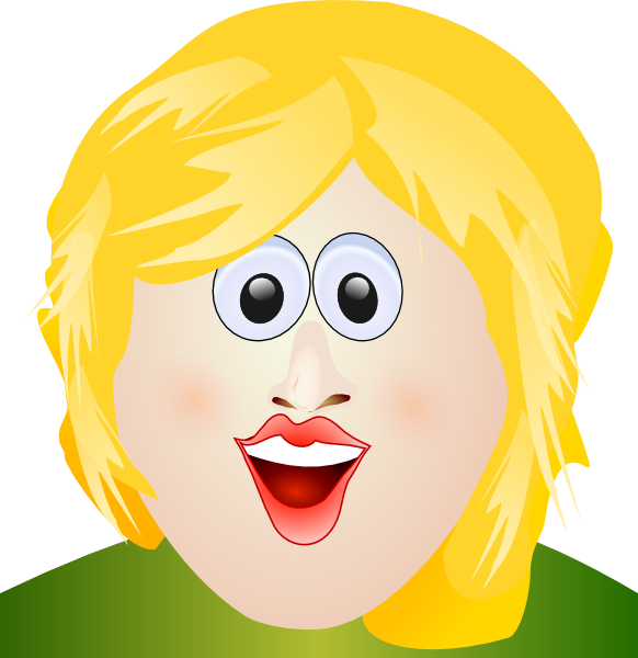 Happy Blonde Woman Clipart - Clipart Kid