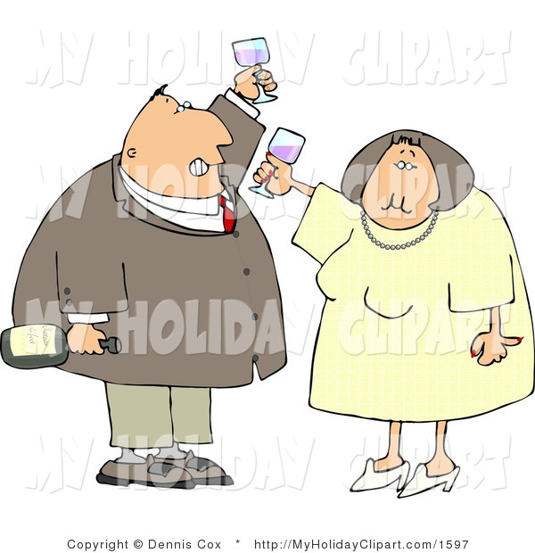 While Celebrating New Years Holiday Holiday Clip Art Dennis Cox