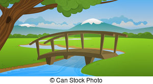 Wood Bridge Stock Illustrations  838 Wood Bridge Clip Art Images And