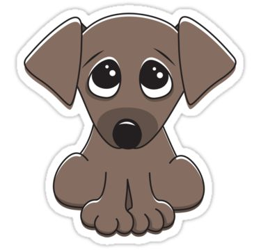 Cute Cartoon Puppy Dog With Big Begging Eyes  Stickers From Redbubble