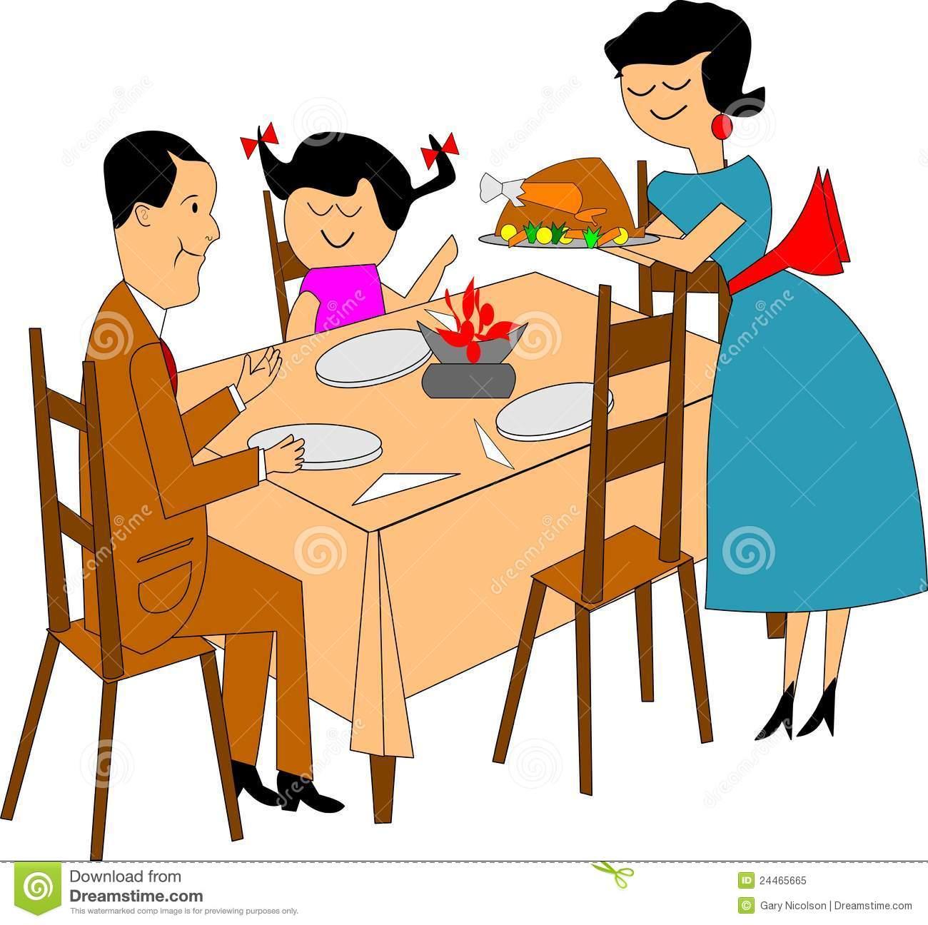 clipart family dinner table - photo #17