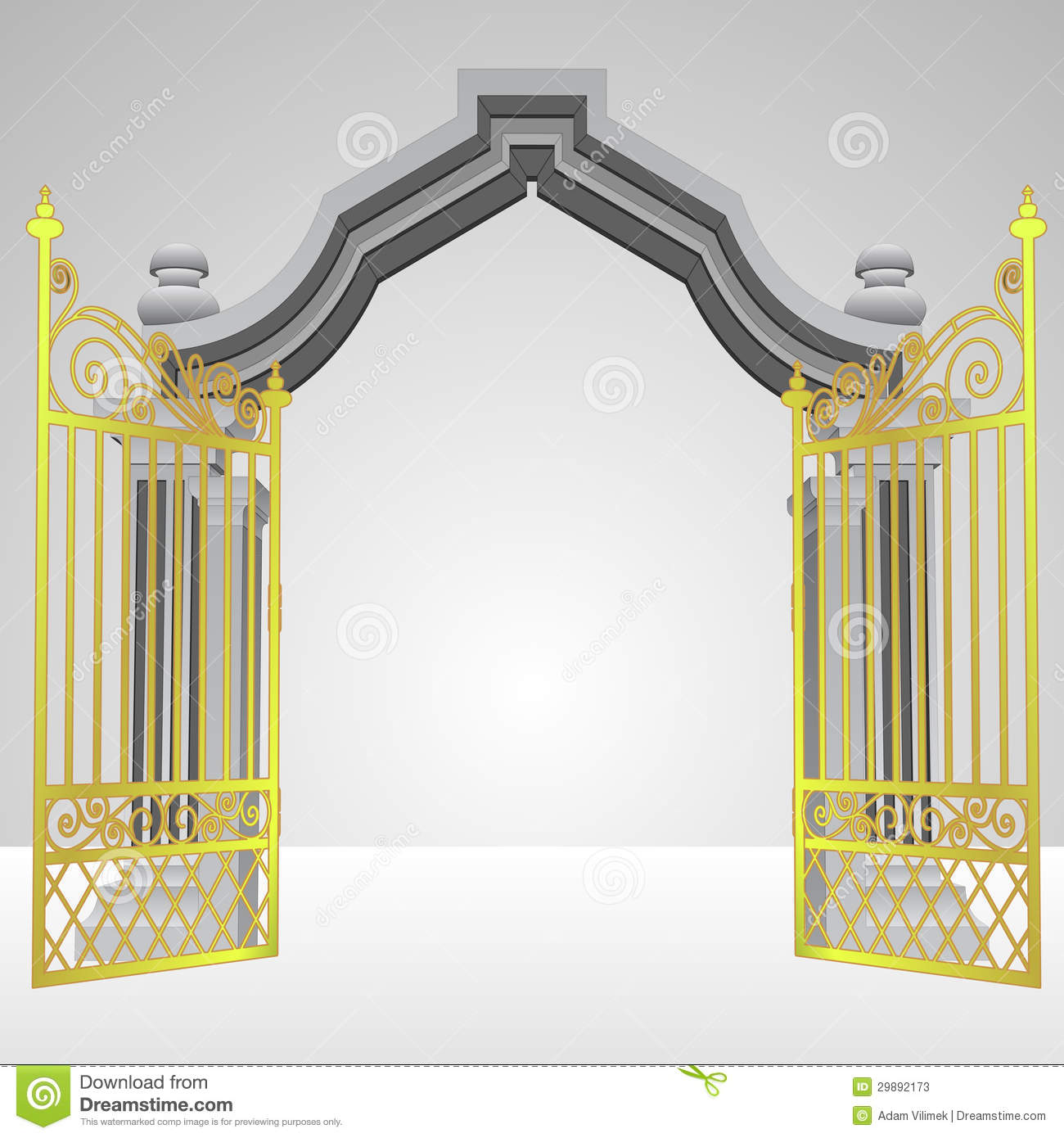 Heaven Gates Clipart Heavenly Gate With Open Gold