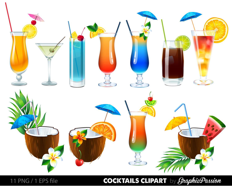 Clip Art Summer Drinks