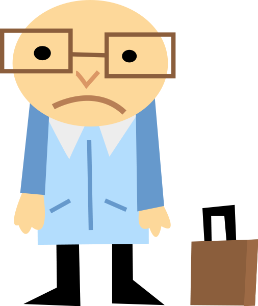 Sad Man   Http   Www Wpclipart Com Cartoon People Men Cartoons Sad Man