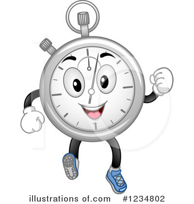 Stopwatch Clipart  1234802   Illustration By Bnp Design Studio
