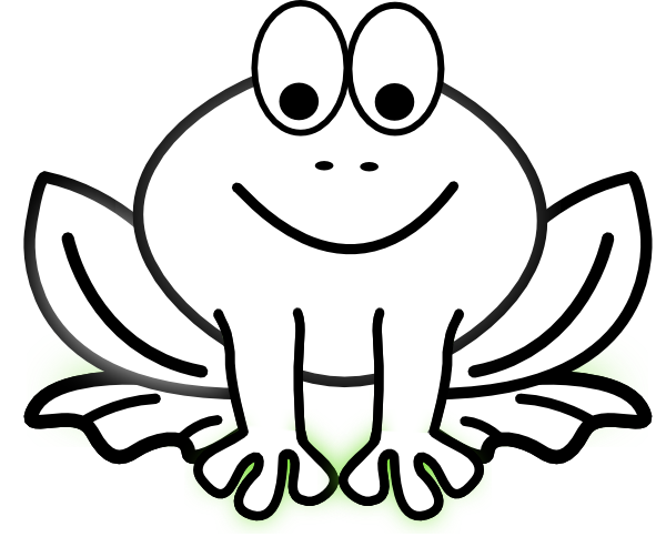 Toad Black And White Clipart - Clipart Kid