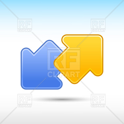 Blue And Yellow Arrows Download Royalty Free Vector Clipart  Eps
