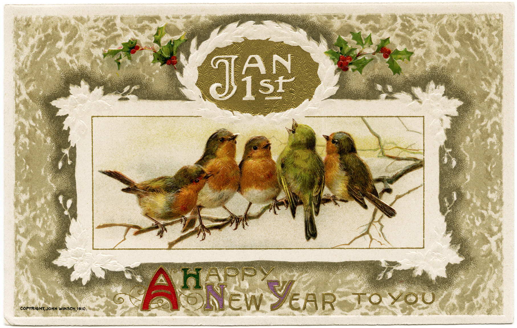 Happy New Year Vintage Images