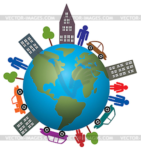 Concept Of Life On Our Earth   Stock Vector Clipart