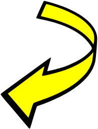 Curved Attention Yellow   Http   Www Wpclipart Com Signs Symbol Arrows