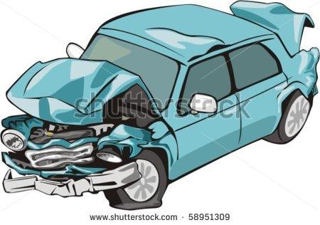 Damaged Car Stock Vectors   Vector Art