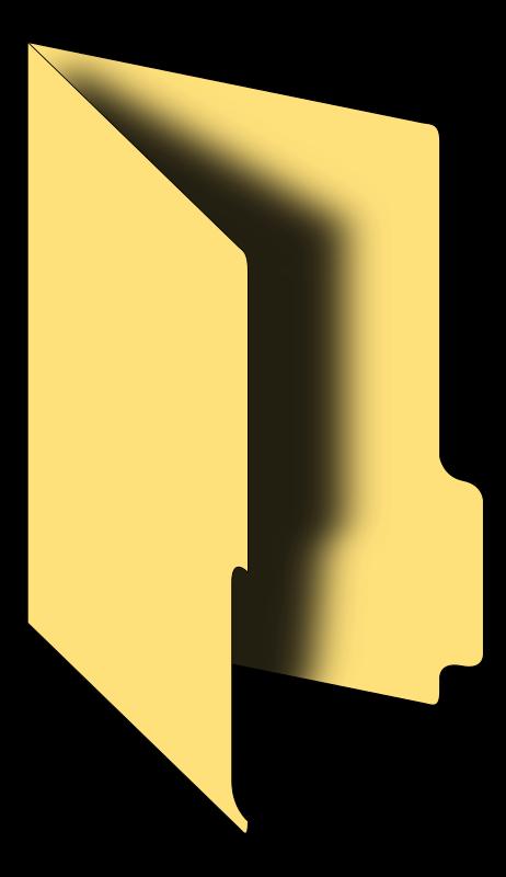 File Folder Open Clipart - Clipart Kid