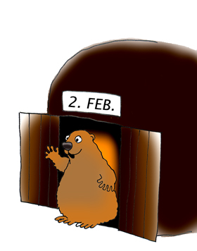 Groundhog Day Clipart And Printables