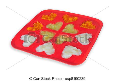 Ice Cube Tray In Freezer Clipart Pureed Baby Food In An Ice Cube Tray