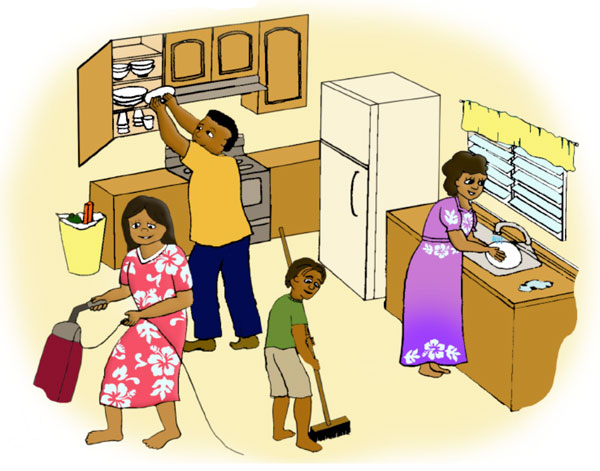 Family cleaning together clipart clipart suggest - Casa de limpieza ...