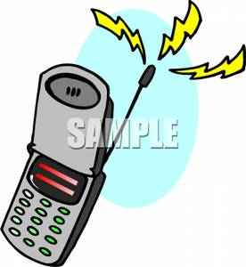 Ringing Cell Phone Clip Art